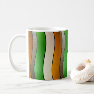 Ireland Flag Colors-Chrome by Shirley Taylor Coffee Mug