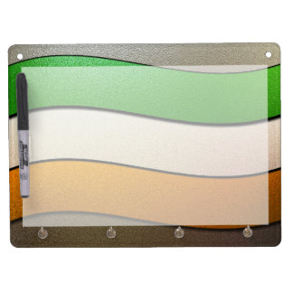 Ireland Flag Colors-Chrome by Shirley Taylor Dry Erase Board With Keychain Holder