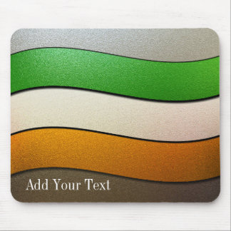 Ireland Flag Colors-Chrome by Shirley Taylor Mouse Pad