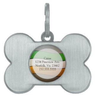 Ireland Flag Colors-Chrome by Shirley Taylor Pet Name Tag