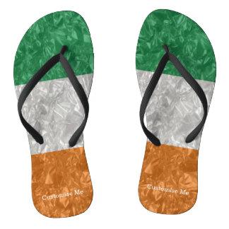 Ireland Flag - Crinkled Flip Flops