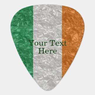 Ireland Flag - Crinkled Guitar Pick
