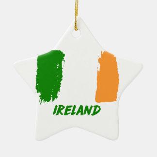 Ireland flag design ceramic star ornament