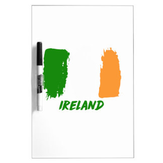 Ireland flag design dry erase boards
