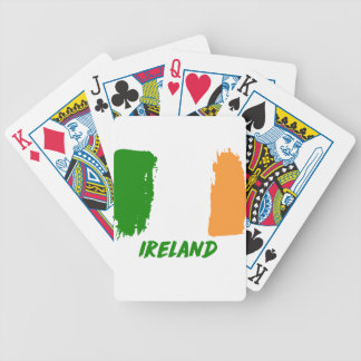 Ireland flag design poker deck