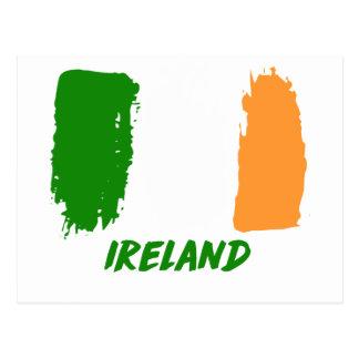 Ireland flag design postcard
