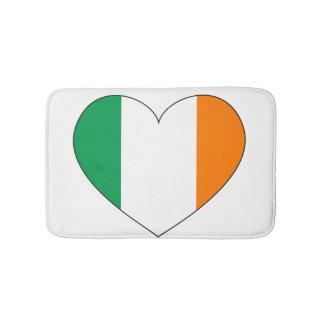 Ireland Flag Heart Bath Mat