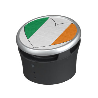 Ireland Flag Heart Bluetooth Speaker