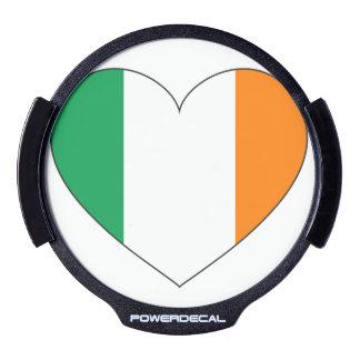 Ireland Flag Heart LED Window Decal
