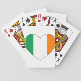 Ireland Flag Heart Playing Cards