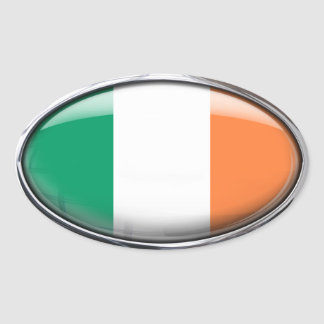 Ireland Flag in Glass Oval (pack of 4) Oval Sticker