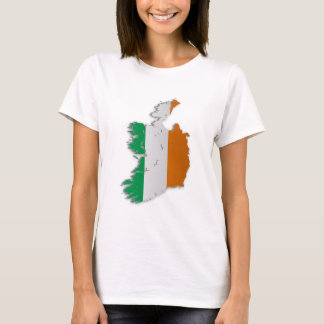 Ireland Flag Map T-Shirt