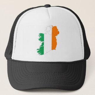Ireland Flag Map Trucker Hat