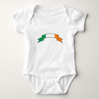 Ireland Flag Ribbon Baby Bodysuit