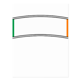 Ireland Flag Ribbon Postcard
