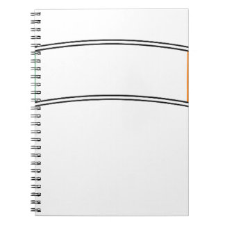 Ireland Flag Ribbon Spiral Notebook
