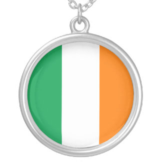 Ireland Flag Silver Plated Necklace