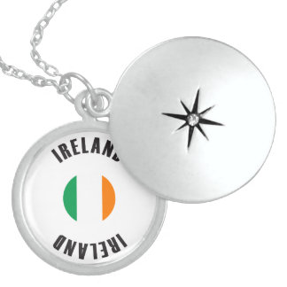 Ireland Flag Wheel Sterling Silver Necklace