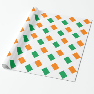 Ireland flag wrapping paper