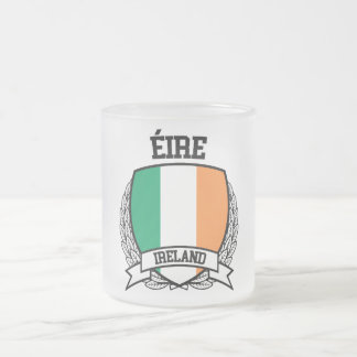Ireland Frosted Glass Coffee Mug
