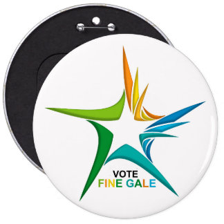 Ireland General Election for Colossal-Round-Badge 6 Inch Round Button