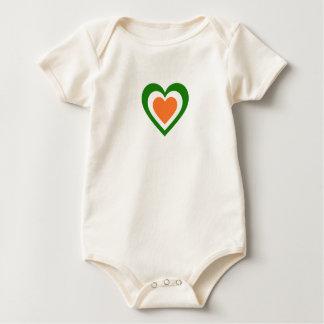 Ireland/Irish Flag-Inspired Hearts Baby Bodysuit