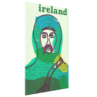 Ireland knight vintage travel poster print