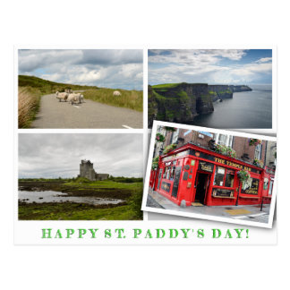 Ireland landscapes collage for St. Paddy's Day Postcard
