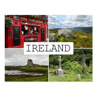 Ireland landscapes collage postcard