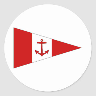 Ireland Lough Derg Sailing Club Ensign Classic Round Sticker
