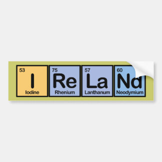 Ireland made of Elements Bumper Sticker