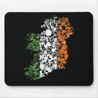 Ireland map & flag patriotic splatter painting mouse pad