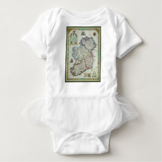 Ireland Map - Irish Eire Erin Historic Map Baby Bodysuit