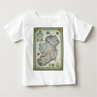 Ireland Map - Irish Eire Erin Historic Map Baby T-Shirt