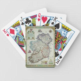 Ireland Map - Irish Eire Erin Historic Map Bicycle Playing Cards