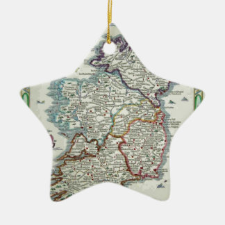 Ireland Map - Irish Eire Erin Historic Map Ceramic Ornament