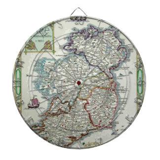 Ireland Map - Irish Eire Erin Historic Map Dartboards