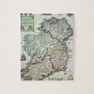 Ireland Map - Irish Eire Erin Historic Map Jigsaw Puzzle