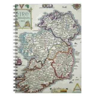Ireland Map - Irish Eire Erin Historic Map Notebook