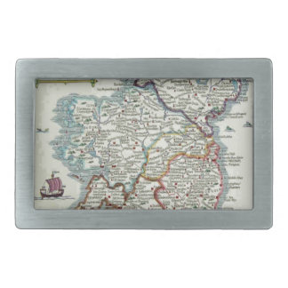 Ireland Map - Irish Eire Erin Historic Map Rectangular Belt Buckles