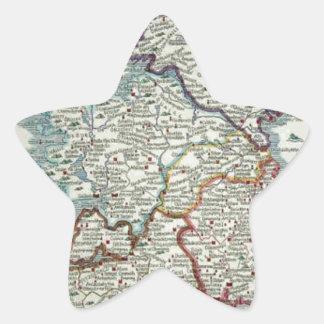 Ireland Map - Irish Eire Erin Historic Map Star Sticker