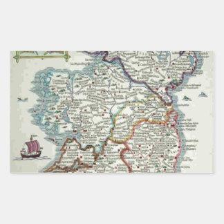 Ireland Map - Irish Eire Erin Historic Map Sticker