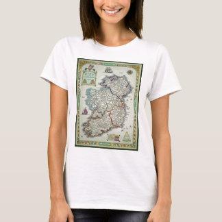 Ireland Map - Irish Eire Erin Historic Map T-Shirt