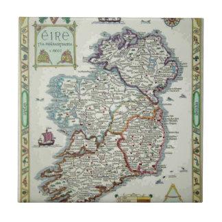 Ireland Map - Irish Eire Erin Historic Map Tile