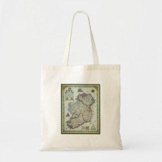 Ireland Map - Irish Eire Erin Historic Map Tote Bag