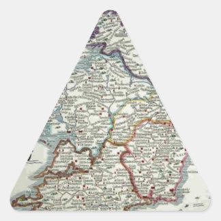 Ireland Map - Irish Eire Erin Historic Map Triangle Sticker