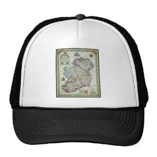 Ireland Map - Irish Eire Erin Historic Map Trucker Hat