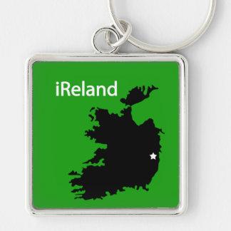 iReland Map Keychain