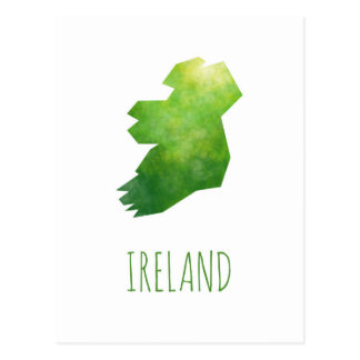 Ireland Map Postcard