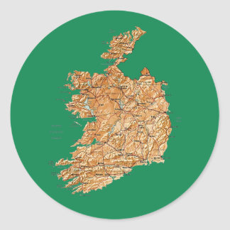 Ireland Map Sticker